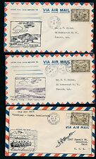 87231) Canada, 6 diff. FF covers ( years mostly 1928 - 1937 ) have a look !