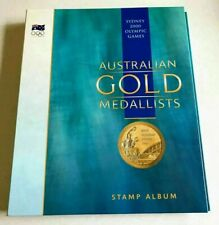 🇦🇺 SYDNEY 2000 OLYMPIC GAMES AUSTRALIAN GOLD MEDALISTS STAMP ALBUM 16x SHEETS