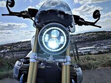 "BMW R nine T LED Headlight Black 7"" 50W E MARKED R ninet"