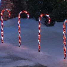 60cm tall Indoor/Outdoor Red Candy Cane Christmas Xmas Path Lights Set of 4 gift
