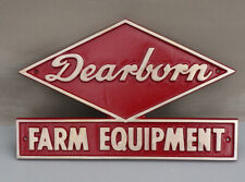 Vintage NOS DEARBORN FARM EQUIPMENT Ford Farm Tractor Sign