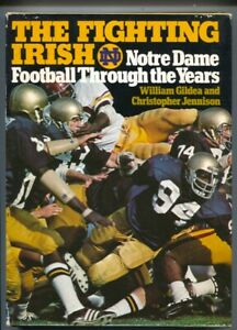 Fighting Irish 1976-Notre Dame football historyhard cover w/ dust jacket-1st ...