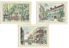 Vintage/Midcentury Set Of Six (6) Travel Cards by Esso (Tiger) Advertising