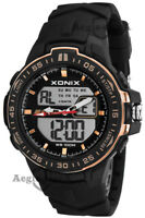 Men's sports watch XONIX, quartz, dual time, stopwatch, alarm, WR100M