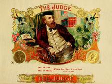 Vintage The Judge Cigar Ad Reproduction Metal Sign Tobacco Smoking