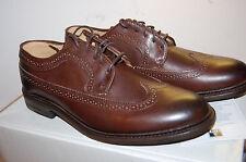 NIB Frye James Wingtip Mens shoes Handcrafted Leather Dark Brown Antiqued 9 med