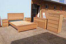 local made tasmanian oak hardwood timber Freedom queen bedroom suite.