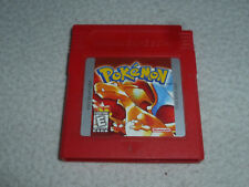 NINTENDO GAMEBOY GAME CARTRIDGE ONLY POKEMON RED VERSION CART CHARIZARD CART >>>