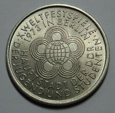 EAST GERMANY DDR 10 MARKS COIN 1973 WELTFESTSPIELE aUNC RARE