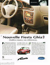 PUBLICITE ADVERTISING 065  1996  FORD FIESTA GHIA