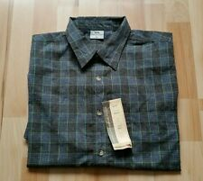 New Mens TRESPASS  Checked Navy Casual Short Sleeve Button Down Shirt Size L
