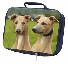 Whippet Dogs Navy Insulated School Lunch Box Bag, AD-WH1LBN