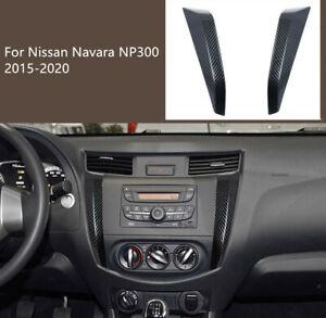 For Nissan Navara NP300 2015-2020 Carbon Black Center Console Strip Decor Trim