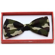 Army Camouflage Toddler Kids Bow Tie Boys Girls Child School Picture Recital