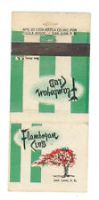 FLAMBOYAN CLUB SAN JUAN PUERTO RICO MATCHBOX LABEL ANNI '50 AMERICA FIAMMIFERI