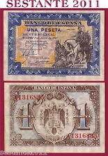 SPAIN / SPAGNA - 1  PESETA  1.6. 1940   -  P  121    -  SPL+ / XF+