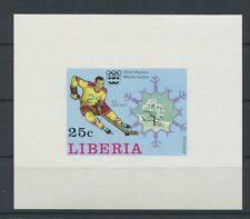 LIBERIA EPREUVE DE LUXE 1976 OLYMPIA WINTER OLYMPICS LUXUSBLOCK c2059
