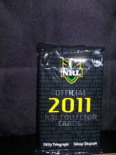 NRL OFFICIAL 2011 COLLECTOR TRADING CARDS - PACK 4 - NEW AND SEALED