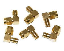6x Right-Angle 90 Degree SMA Male to Female Adapter, Ham Radio Gold Plated 6Pcs