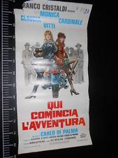 ★ Manifesto Locandina Qui comincia l'Avventura Vitti Cardinale Poster Playbill ★