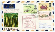 FFC 1970 Lufthansa PRIMO VOLO LH 591 - Framcoforte Entebbe Nairobi Mauritius