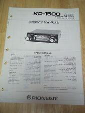 Pioneer Service Manual~KP-1500 Car Stereo Cassette Radio~Original~Repair