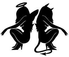 pegatina vinilo ANGEL Y DEMONIO no60 8.5cm x 11cm