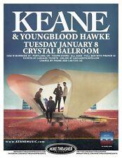 KEANE & YOUNGBLOOD HAWKE 2013 Gig POSTER Portland Oregon Concert