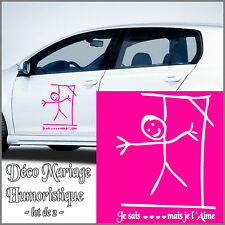 Sticker Déco  KIT DECO VOITURE MARIAGE humour