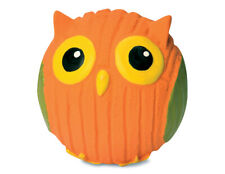 HuggleHounds Extreme Durable Rubber Squeaky Ruff Tex Poppy Owl Dog Toy Mini