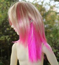 Dollfie BJD SD wig Perücke Jojo, blonde/hot pink size 8-9