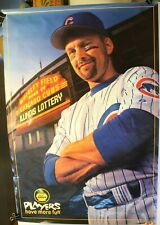 "2000 Chicago Cubs Mark Grace Illinois Lottery 24 x 36"" Promo Poster"