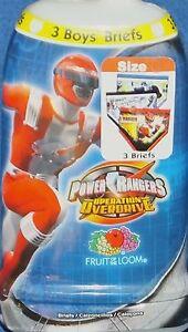 Power Ranger Operation Overdrive Boys size 4 Briefs 3 Pack Underwear New 2006