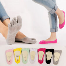 5 10pack Womens Invisible Loafer Boat No Show Nonslip Liner Low Cut Cotton  Socks 10 Pairs a936b598d5