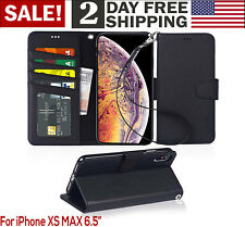 iPhone Ten Xs Max 6 5 Luxury Flip PU Leather Flip Wallet Stand Phone Case Cover