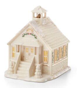 Lenox CHRISTMAS VILLAGE SCHOOL HOUSE Lighted Building