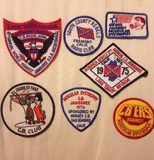 Lot of 7 Vintage CB RADIO patches CLUB JAMBOREE 1975 1976 Calif. Nevada