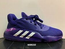 ADIDAS PRO BOUNCE 2019 LOW COLLEGIATE PURPLE BASKETBALL SHOES EF0673 SIZE 8-12