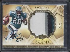 LESEAN MCCOY 2009 UD EXQUISITE RPA 4 COLOR ROOKIE PATCH ON CARD AUTO RC #D /225