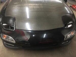 ZK Motoring Mazda RX7 FD FRP Sleek Headlight Half Kit