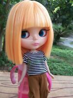 """12"""" Neo Blythe Doll from Factory Doll Orange Yellow Short Hair Straight Hair"""