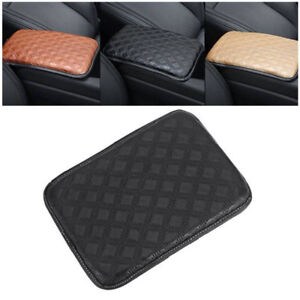 PU Leather Armrest Pad Cover Center Console Cushion Universal For Car SUV Pickup