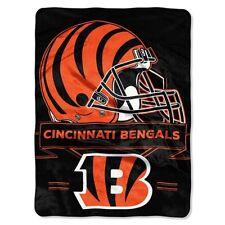 "Cincinnati Bengals Plush 60"" by 80"" Twin Size Blanket - NFL"