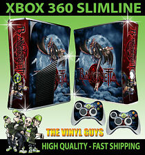 XBOX 360 SLIM STICKER BAYONETTA WITCH GRAPHICS SKIN & 2 PAD SKINS