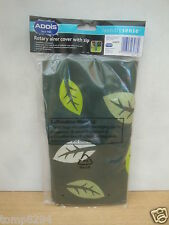 ADDIS LAUNDRY SENSE ROTARY CLOTHES LINE COVER GREEN WITH LEAF DESIGN