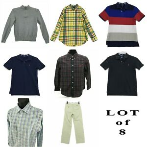 Ralph Lauren Vineyard Vines LOT of Youth Boys Sz L 14 16 Shirts Pants Sweater