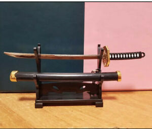 1/6 Scale Samurai Sword + Stand Ninja  Warrior Japan Yakuza Figure Accessories