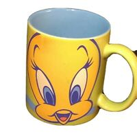 Vintage Tweety Bird Mug Looney Tunes Coffee Cup  Warner Bros Xpress blue yellow