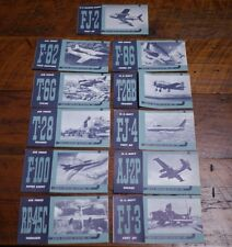 11 Vintage 1950s North American Aviation US Military Fighter Bomber Brochures