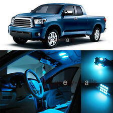 Deluxe Ice Blue Light Interior LED Package Kit For Toyota Tundra 2007-2013 13pc